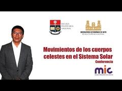 Conferencia:Movimientos de los cuerpos celestes en el Sistema Solar