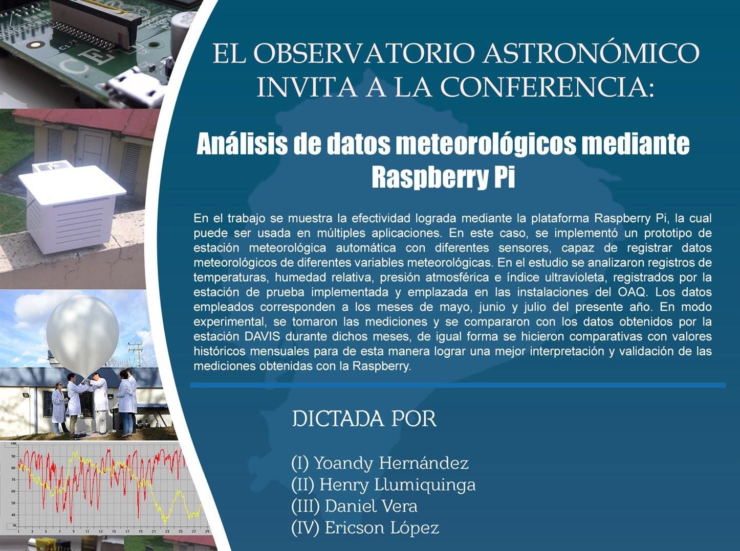 Conferencias 2018 - Observatorio Astronómico de Quito - OAQ
