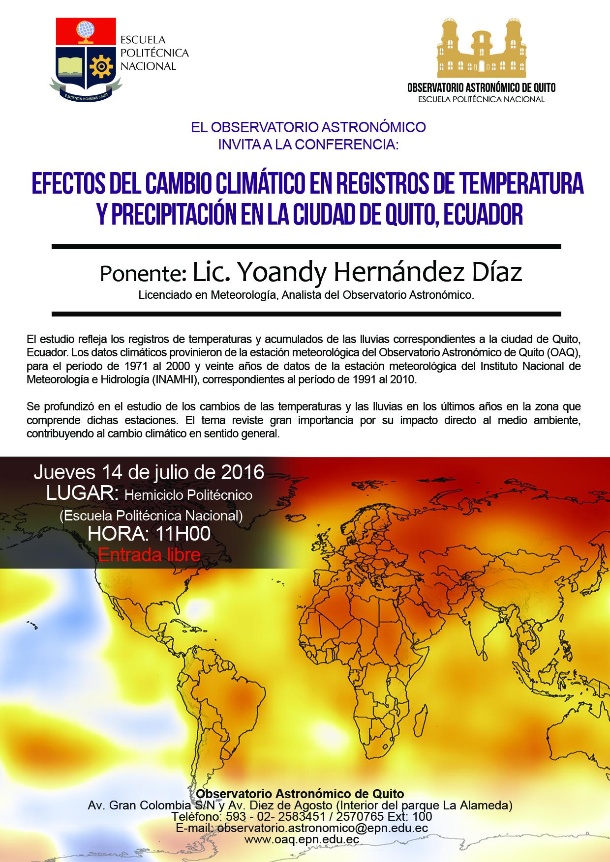 Conferencia Efectos Del Cambio Climático En Registros De